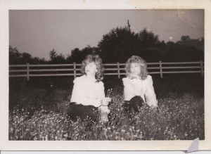 My mother and her sister, Cheryl, back when they sang together.